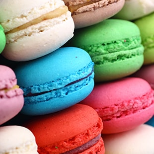 Different flavors of macaroons